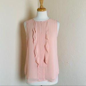 Ann Taylor Peach Layered Blouse - Medium